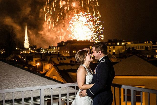 Portsmouth Wedding Venues | Couple with Fireworks